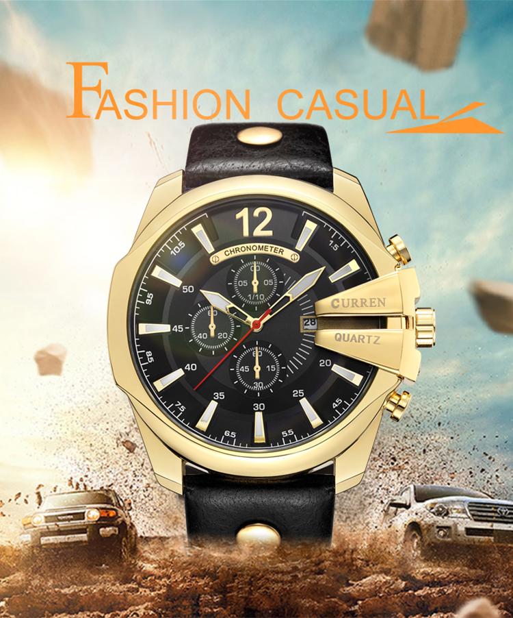 18 Style Fashion Watches Super Man Luxury Brand CURREN Watches Men Women Men's Watch Retro Quartz Relogio Masculion For Gift 3