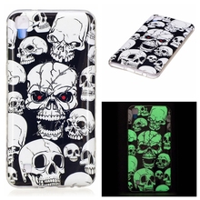For LG X Power Glow Case Flower Skull Soft TPU Night Light Cover For Fundas LG X Power Case New arrivals Coque For LG X Power
