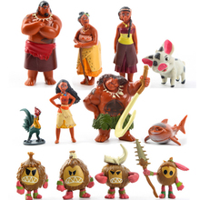 New 12Pcs/Set Moana PVC Princess Toy Maui Heihei Adventure Action Figures Collection Dolls Party Decoration Supply Gift
