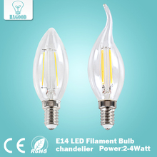 2W 4W E14 220V 230V 240V LED Filament Bulb clear grass Edison light bulbs led ceiling chandelier light bulb for Home Decoration