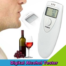 Portable Mini LCD Display Digital Alcohol Breath Tester Professional Breathalyzer Alcohol Meter Analyzer Detector