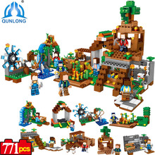 Minecraft 8 in 1 Manor Estate Village House Model Building Blocks Bricks Set Compatible Legoed Minecraft Boys toys for Children(China)