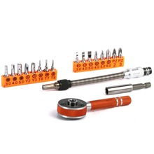 LAOA 19PCS Forward Reverse Multifunction Ratchet Screwdriver Set Tool With Phillip Slotted Torque Screwdriver Bits