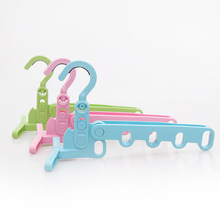 Household Hooks Plastic Door Rack Clothes Towel Hanger Hanging Rack with 5 Hooks()