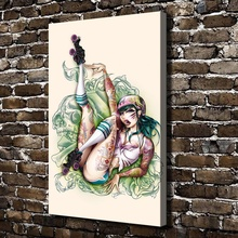 A0055 Sexy Girl Naked Art Anime Figures Scenery.HD Canvas Print Home decoration Living Room bedroom Wall pictures Art painting
