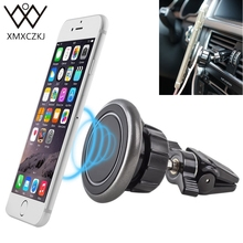 Buy New Universal Car Phone Mount Holder 360 Rotation Air Vent Magnetic Mount Holder Metal Stand iPhone 8 Mini Tablet GPS Cradle for $6.15 in AliExpress store