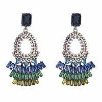 Qiaose Bohemian Style Full Rhinestone Dangle Earrings for Women Fashion  Jewelry Boho Maxi Collection Earrings Accessories -in Drop Earrings from  Jewelry ... 2afa91f6c0d4