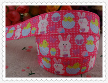 "2014 new arrival 7/8"" (22mm) easter printed grosgrain ribbon cartoon ribbons hair accessories 10 yards wq2829(China)"