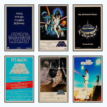 Star Wars poster 1977 new hope. vintage poster of a vintage kraft paper bar with a decorative wall sticker/5001