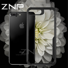 ZNP Luxury Anti-knock Soft Silicone TPU Cases For iphone 7 8 Plus 6 6s Case Transparent Phone Cover For iphone 6 7 8 Plus Case(China)