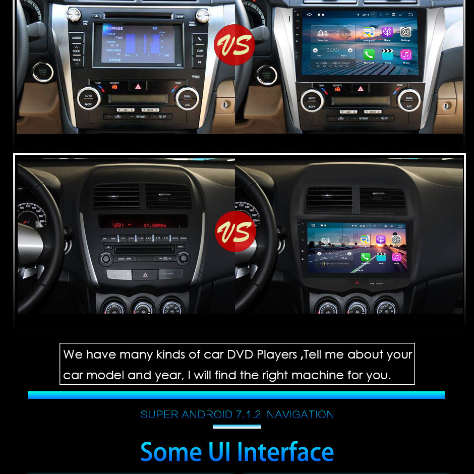 "7"" HD 2GB RAM Quad Core Android 7.1.2 Multimedia 4G DAB+ Car DVD Player Audio Stereo Radio GPS Navi for VW Seat Ibiza 2009-2014"
