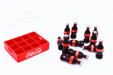 13pcs/set 1:12 Mini Coke  Tray Model Toys RC Truck Car Decor Accessories Dollhouse Miniature Toy Doll drink Kitchen living room