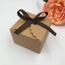 30pcs Square Kraft and white Paper Bag,Kraft Box For Wedding Decoration,Candy Box With Name Card,Gift Box Wedding Favors And Gif