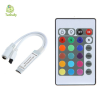 Tanbaby 1piece mini rgb controller DC12V 24 Key Wireless IR Remote RGB LED Mini  Dimmer for 3528 5050 LED Strip