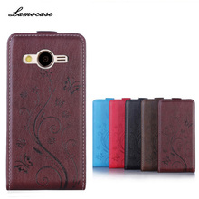 Lamocase Brand For Samsung Galaxy Core 2 Dual SIM G355H SM-G355H G355 G3559 PU Leather Case Flip Cover Business Luxury Feeling