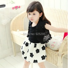 LOWEST PRICE Toddler Kids Girl 1pc Pleated Short Sleeve Floral Pattern Dress Clothes 1-6Y