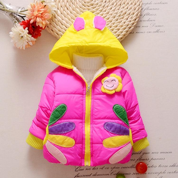 2017 Girls Winter Coats Kids jacket Baby Girl Hoodies jackets outerwear Girls Parka toddler winter coats 1-3 yearsОдежда и ак�е��уары<br><br><br>Aliexpress