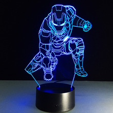 Novelty 3D iron man Halloween pumpkins Night Light Lamp USB Lamp Remote Control lighting Home Bedside Nightlight for Child Gift