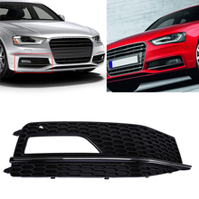 Car-Styling ABS Auto Car Front Grill Grille Kit For Audi A4 B9 Automobiles Exterior Parts Right Car Kidney Hood Grilles Covers