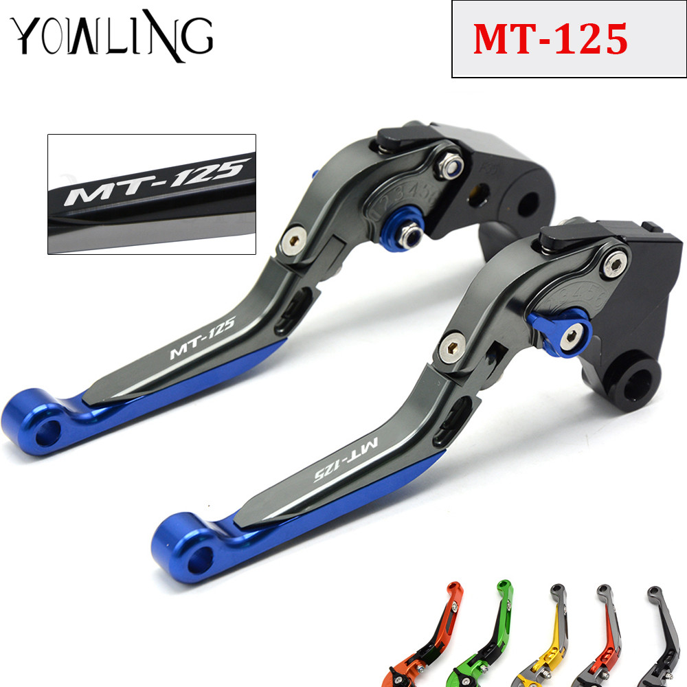 Folding Extendable Adjustable Motorcycle Accessories CNC Brakes Clutch Levers For YAMAHA MT-125 2014 2015 2016 2017 MT125 MT 125<br>