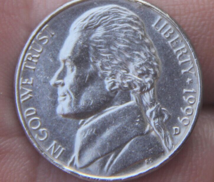 21.5mm Jefferson nickel 5 Cents Coin 1938-2004 Nickel (United States Of America) Used Condition (China)