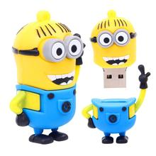Exquisite hands up small yellow USB flash drive 8G 16G 32G 64G 4G pen drive, despicable my cartoon creative U disk memory stick