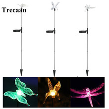 2pcs/lot Solar Power Landscape Decoration Lighting Hummingbird, Butterfly & Dragonfly Garden Yard Lawn Lights(China)