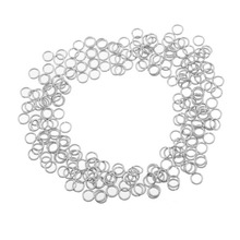 LASPERAL Craft Jewelry Making Supplies 100PCs Stainless Steel Silver Color Open Jump Rings Fit Necklaces Bracelets Accessories