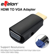 Effelon HDMI to VGA with Audio Cable HDMI to VGA Adapter Male To Female 1080p HDMI to VGA Converter For PC/HDTV
