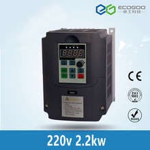 Input 220V single phase Output 380V 3phase VFD Inverter 2.2KW 2200W 3hp 400Hz Variable Frequency Drive for Motor/Spindle(China)