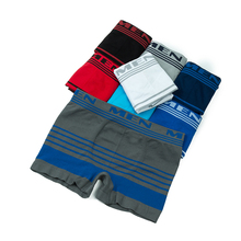 2017 Mens Underwear 8pcs New Style Men's Seamless Underwear Boxer Sexy Breathable Comfortable Stripes Flat Angle Shorts Boxers(China)