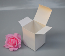 2.7Yan 6*6*10cm white craft gift cardboard box packaging boxes,natural brown kraft box(China)