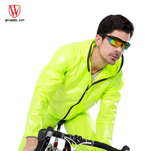A Bike WHEEL UP Quick dry Waterproof Cycling Jacket Rain Coat Men Road Mountain Raincoat Rainwear Cycling Equipment bike women(China)