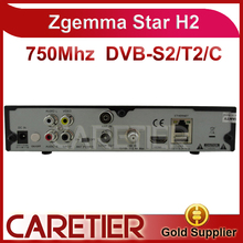 3pcs zgemma star H2 as cloud ibox 3 twin tuners DVB-S2+T/C tuner enigma 2 linux OS Zgemma star H2 Full HD satellite receiver(China)