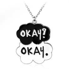 OKAY?OKAY Fault In Our Stars Necklace Letter OKAY Black And White Pendant Necklace Choker Chain Lover Friends Gift Colar