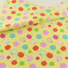 Cotton Fabric Bedding Decoration Yellow Apple Teramila Fabrics Tissue Home Textile Patchwork Quilting Sewing Cloth Crafts(China)