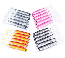 6Pcs Colorful Soft Fish Bait 7cm 2.1g Soft Silicone Tiddler Lure Swimbait Minnow Bait