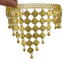 Fashion Women Belly Dance Headband Accessories Costume Dancing Tassels Sequins Headband For Women(China)