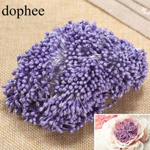 dophee Artificial Flower Stamens 1 Bunch 1700pcs 3mm 16 colors Pearl Floral Stamen Pistil Cake Wedding Decoration DIY Accessory(China)