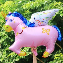 1pc big size balloon Flying horse Foil ballons Helium Animal Cute Balons for Kids Toys Balaos Child Best Gifts Promotion(China)