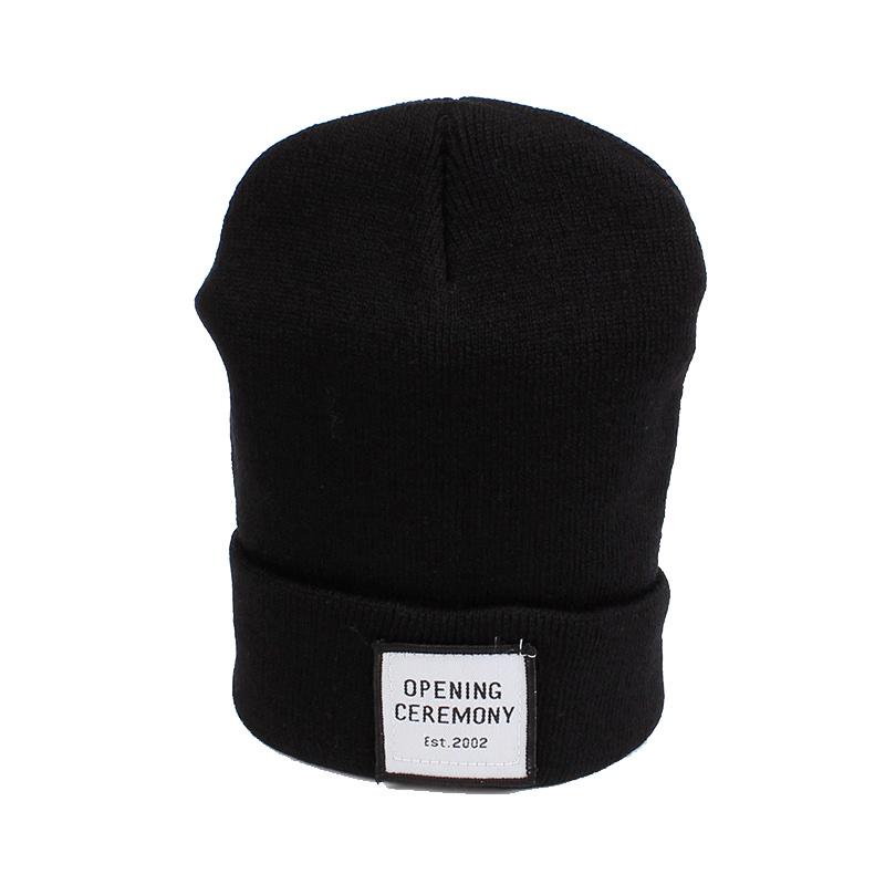 Knitted Cotton Women Beanie Hats Fashion OPENING CEREMONY Women Hats Autumn Winter Warm Female Hat Letter Hip Hop Women Skullies (12)