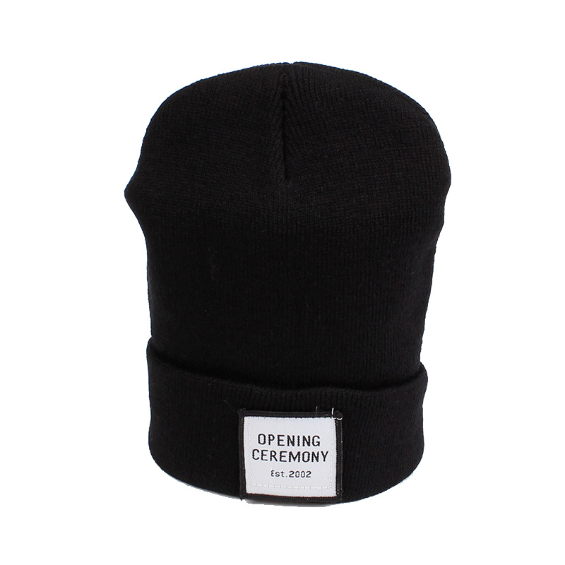 Knitted Cotton Women Beanie Hats Fashion OPENING CEREMONY Women Hats Autumn Winter Warm Female Hat Letter Hip Hop Women Skullies (12)