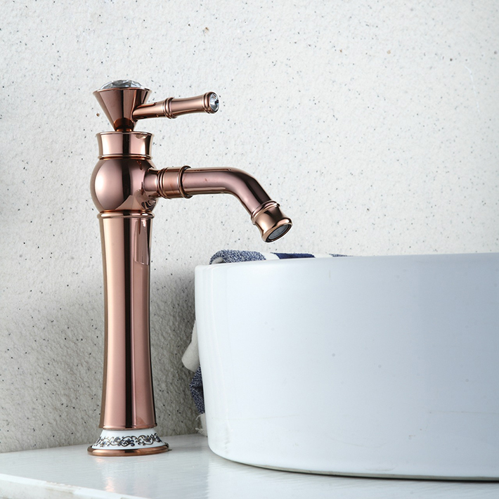 Vintage Rose Gold Finish One Hole Single Handle Kitchen&amp;bathroom  Sink Faucets with 360 degree rotate  Spout<br><br>Aliexpress