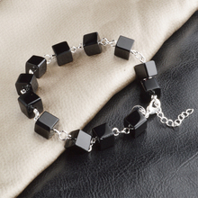 JEXXI New Arrival Charm Bangle & Bracelet With Black Cube Cool Design For Women Girls Fine Christmas Birthday Gifts