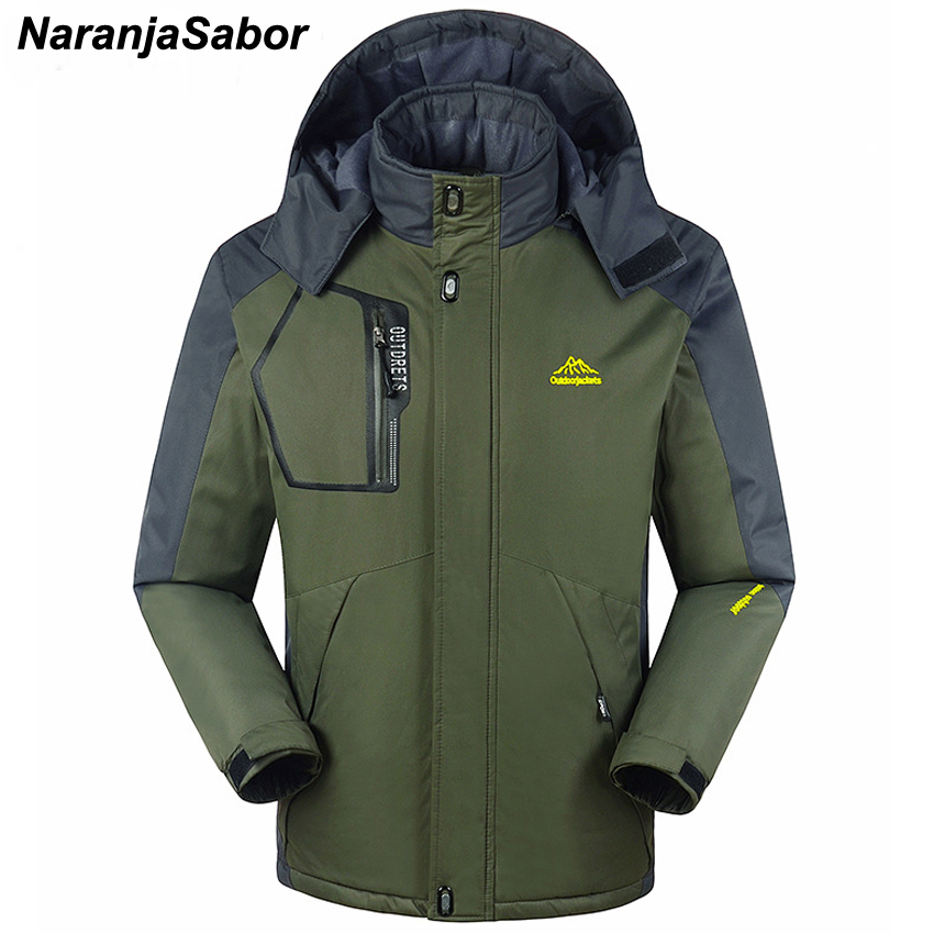 NaranjaSabor 2019 New Men's Winter Thick Coat Military Jackets Male Plus Size 8XL Men Warm Clothing Waterproof Windbreakers N456