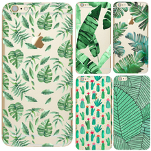 Green Plants Bamboo Leaves Case Cover For Coque iPhone 5S SE 6S 7 7 Plus Galaxy j3 J5 A3 A5 2016 Clear TPU Cell Phone Cases