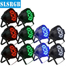 10pcs/lot RGBW 4in1 led can par light 18pcs 12w led par can disco effect light china par 18pcs 4in1 12W Power slim led par 64