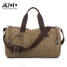 Buy MANJIANGHONG 2018 Men Travel Bag Large Capacity Men Hand Luggage Travel Canvas Duffle Bags Weekend Bags Multifunctional 1110 for $23.97 in AliExpress store