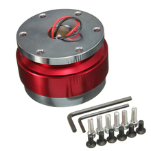 Universal Car Auto Steering Wheel Quick Release Hub Adapter Snap Off Boss Kit Red
