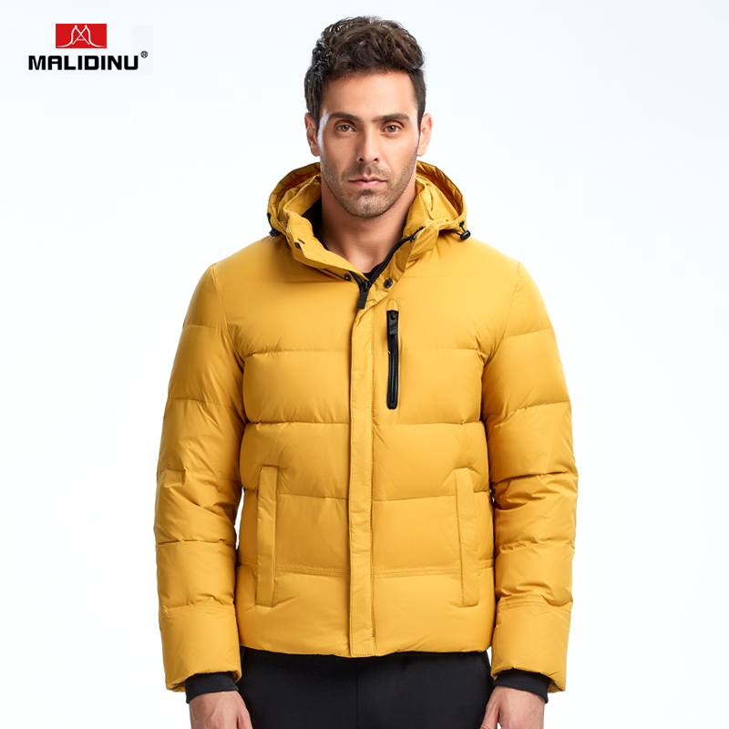 MALIDINU Brand New 2017 Winter Fur Collar Mans Thicken White Duck Down Jacket Coat Hood Parka European Size Free Shipping M1338Одежда и ак�е��уары<br><br><br>Aliexpress